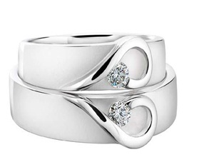 Cincin Tunangan Couple Model Hati KD61