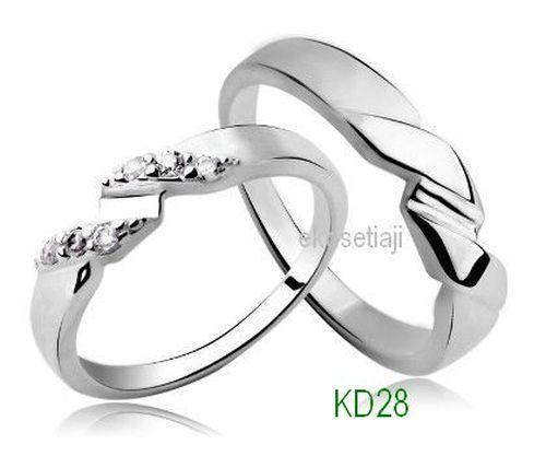 cincin tunangan cincin kawin pasangan couple cincin perak KD28