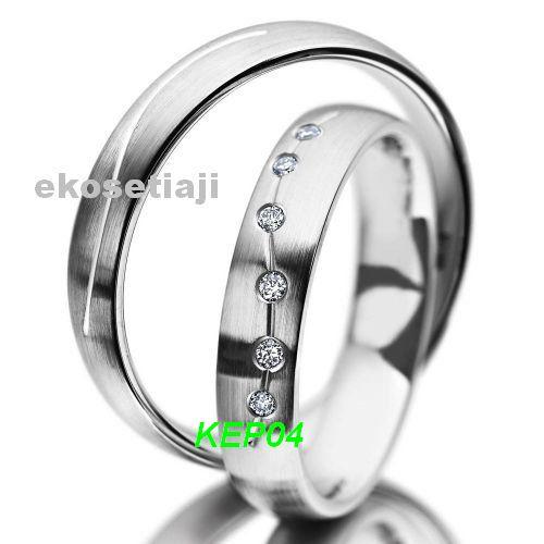 cincin emas putih palladium KP04
