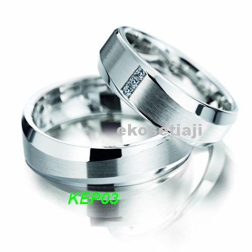cincin kawin emas putih dan palladium