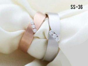 Cincin tunangan Silver+ Rosegold